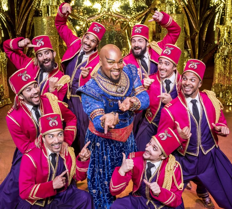 Friend Like Me.  Michael James Scott (Genie) & Ensemble. Photo by Deen van Meer. © Disney