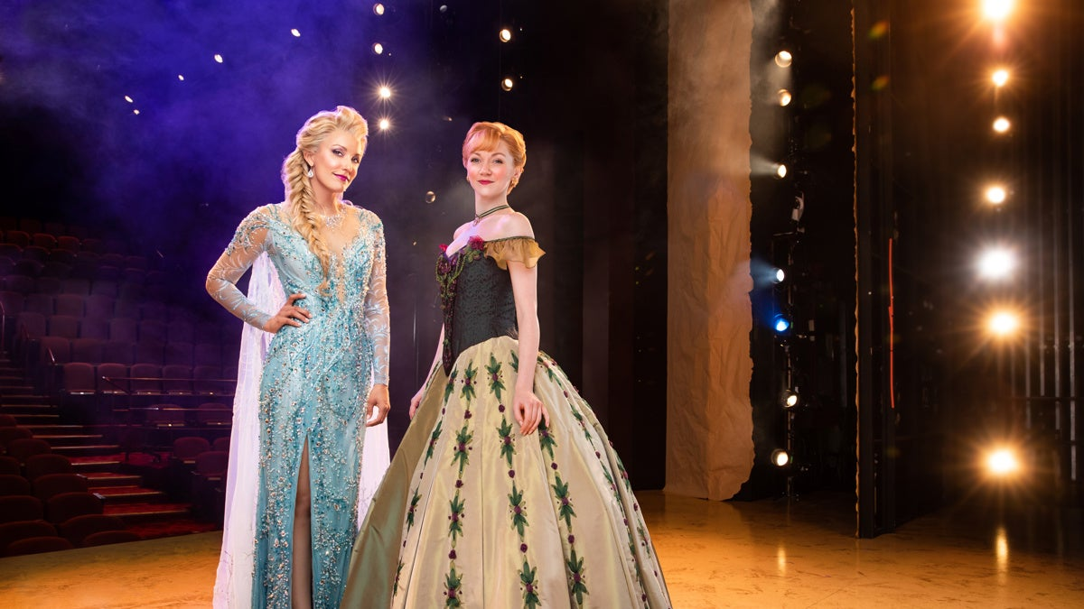 3-Duo- Caroline Bowman as Elsa and Caroline Innerbichler as Anna photo by Matthew Murphy for MurphyMade