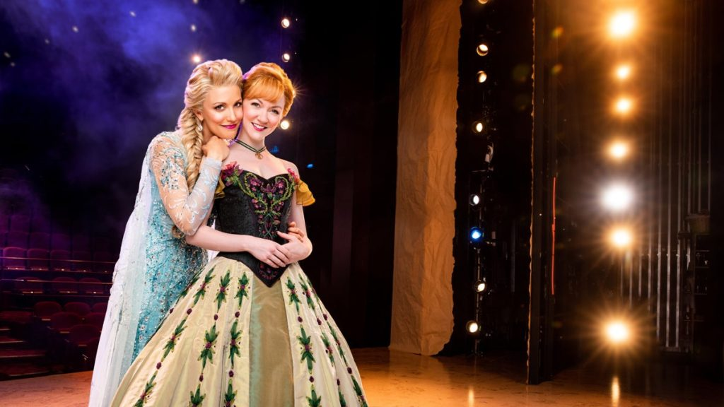 TOUR-Frozen-Caroline Bowman as Elsa-Caroline Innerbichler as Anna-photo by Matthew Murphy-11/19