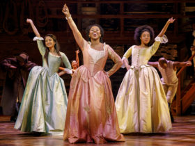 The Schuyler Sisters singing about the american revolution and New York City
