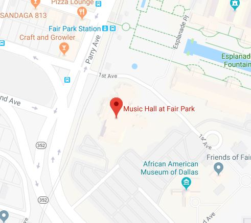 Google maps image of Music Hall at Fair Park